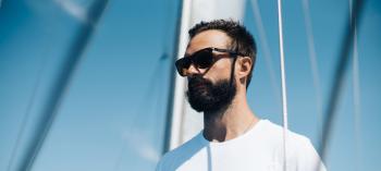 Man Wearing Polarized sunglasses